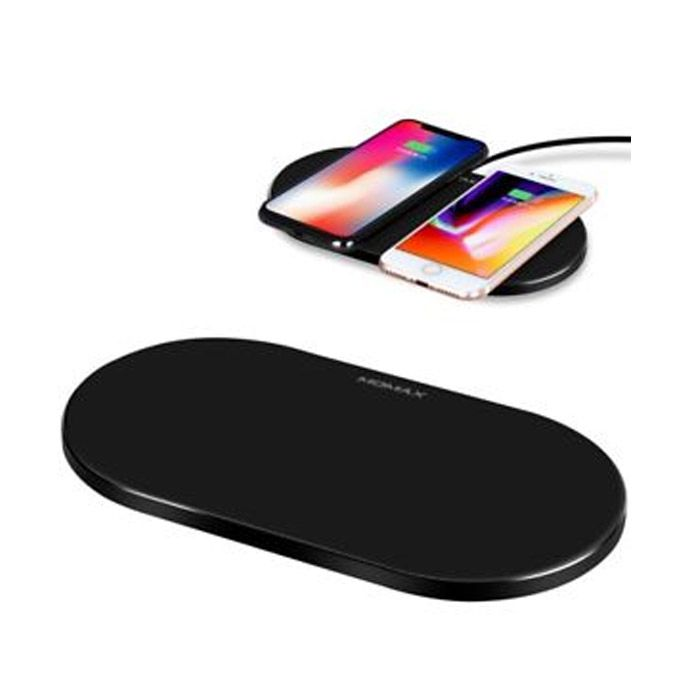 Momax Q.Pad Dual Pro Quad-Coil Fast Wireless Charger Black [Ud11D]