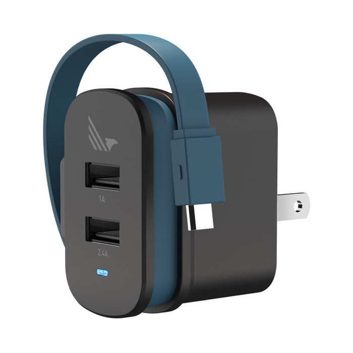WILDFLAG - Wall Charger 2 Port A+C, Usb A 5W + Type C 12W [WF-WLX005BK]